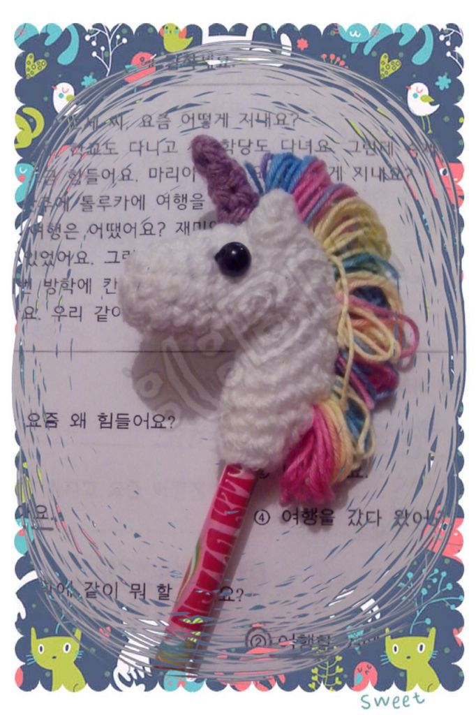 Amigurumi//Unicorn//Pencil Topper//Crochet//Unicornio//