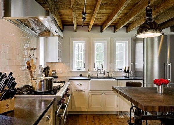 exposed beams...