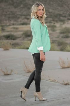 What To Wear With A Mint Green Blazer