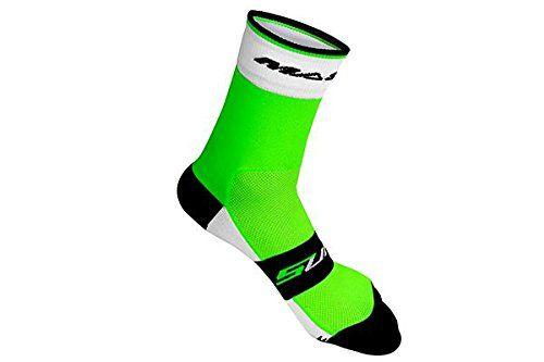 Massi Supra - Calcetines de ciclismo unisex, color verde, talla M