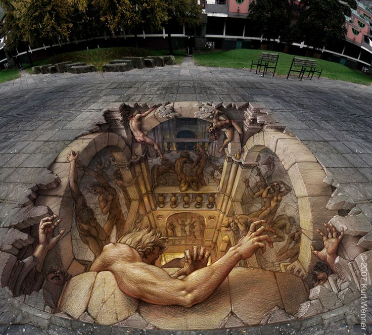 It really looks like could jump right in there. Amazing street art