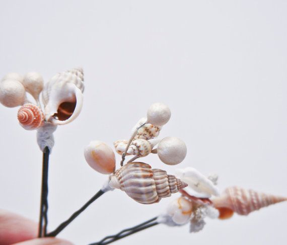 LAROCHE PINNING FOR YOU She sells sea shells bobby pin set by BeSomethingNew on Etsy, $25.00