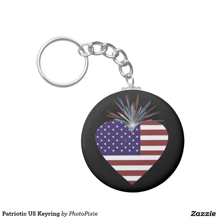 Patriotic US Keyring