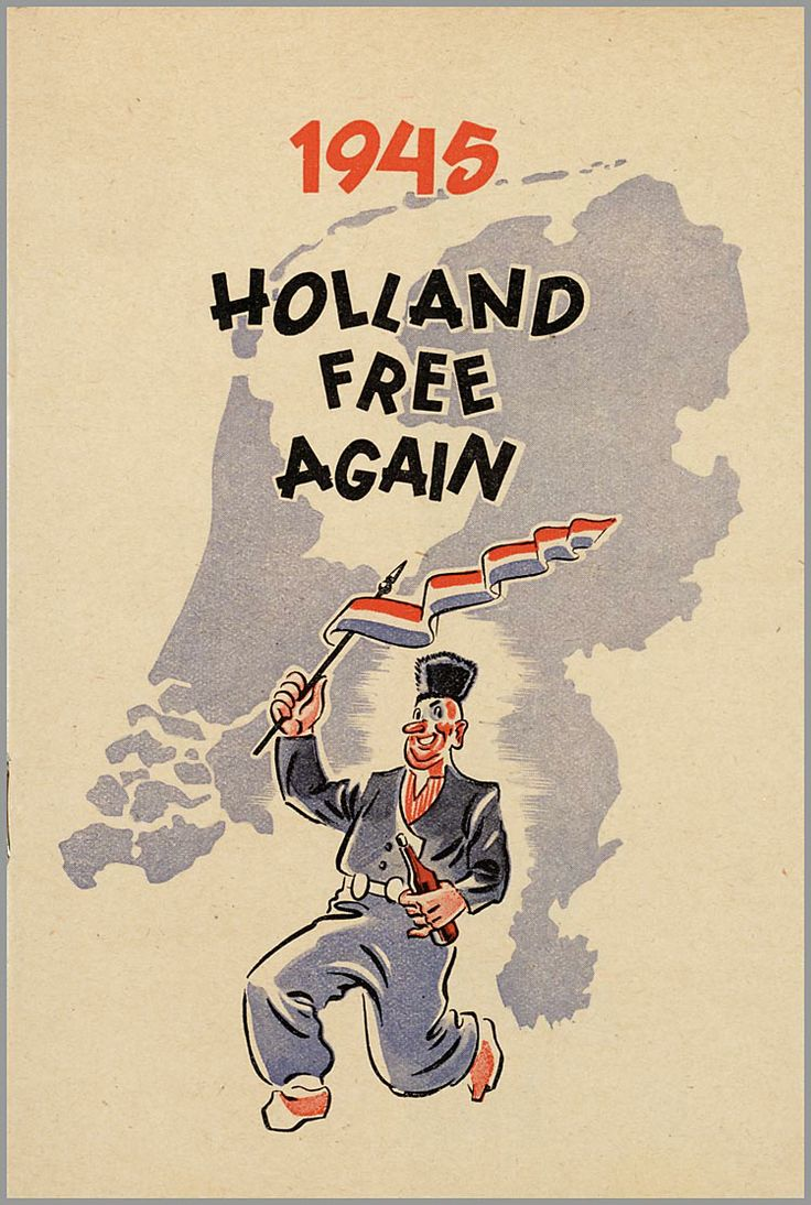 1945 Holland free again - #junkydotcom Nederland Holland The Netherlands
