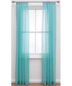 ColourMatch Voile Curtain - 152x228cm - Jellybean Blue.