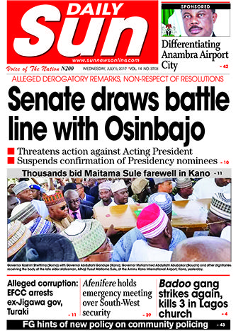 Naija.fm Newspaper Review – 5 July 2017 You can't afford to read the entire news? Don't worry, we bring you headlines from some top newspapers. Now you can stay informed with ease. Punch   Promoter gets bids for Joshua-Klitschko rematch in Abuja Chelsea ready to sell... #naijamusic #naija #naijafm