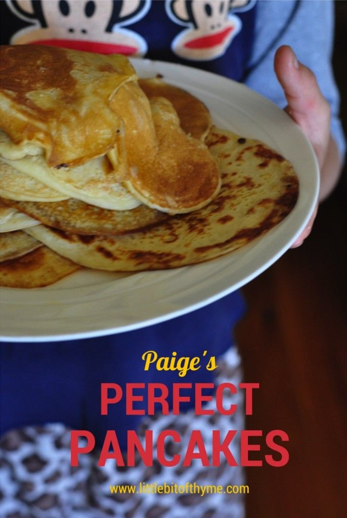 Paige's Perfect Pancake Recipe {in the kitchen}