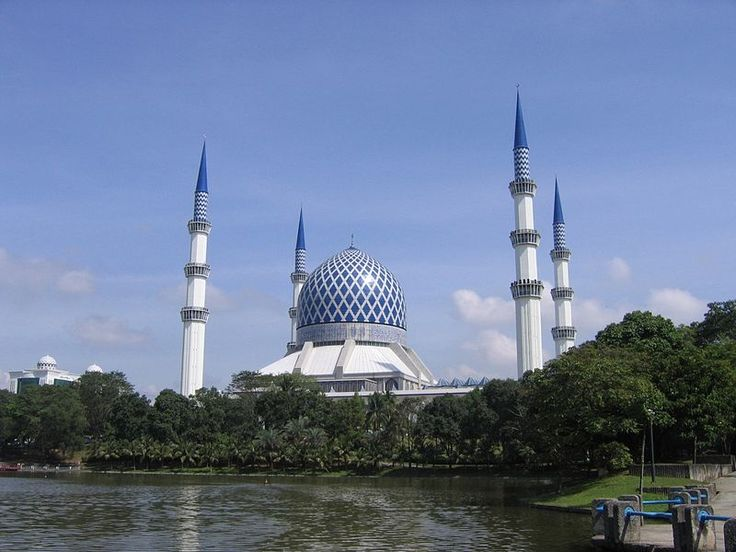 Sultan Salahuddin Mosque or Blue Mosque in Shah Alam