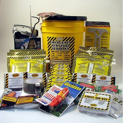 Earthquake Kit 4 Person Deluxe Home Honey Bucket Survival Emergency by Mayday Industries. Earthquake Kit 4 Person Deluxe Home Honey Bucket Survival Emergency.