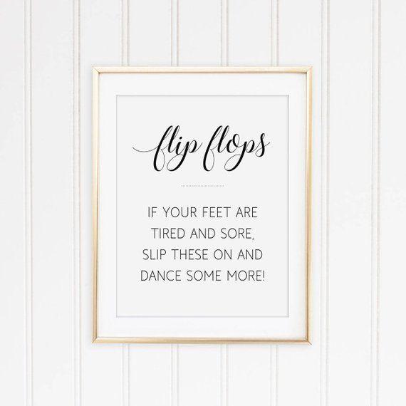 Flip Flop Sign Wedding Flip Flops Printable Sign Dancing Shoes Sign Flip Flo Unplugged Wedding Sign Printable Wedding Sign Wedding Bathroom Signs