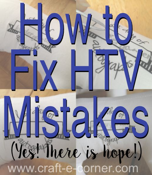 Three heat transfer vinyl mistakes and three fixes. If you press something in error, you can fix it! Here's how!