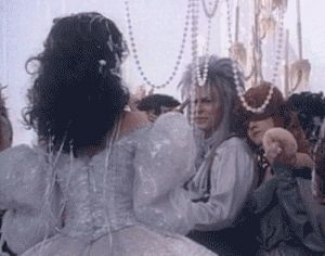 (GIF) Jennifer Connelly and David Bowie rehearsing for the ballroom scene. Look at that grin! #labyrinth