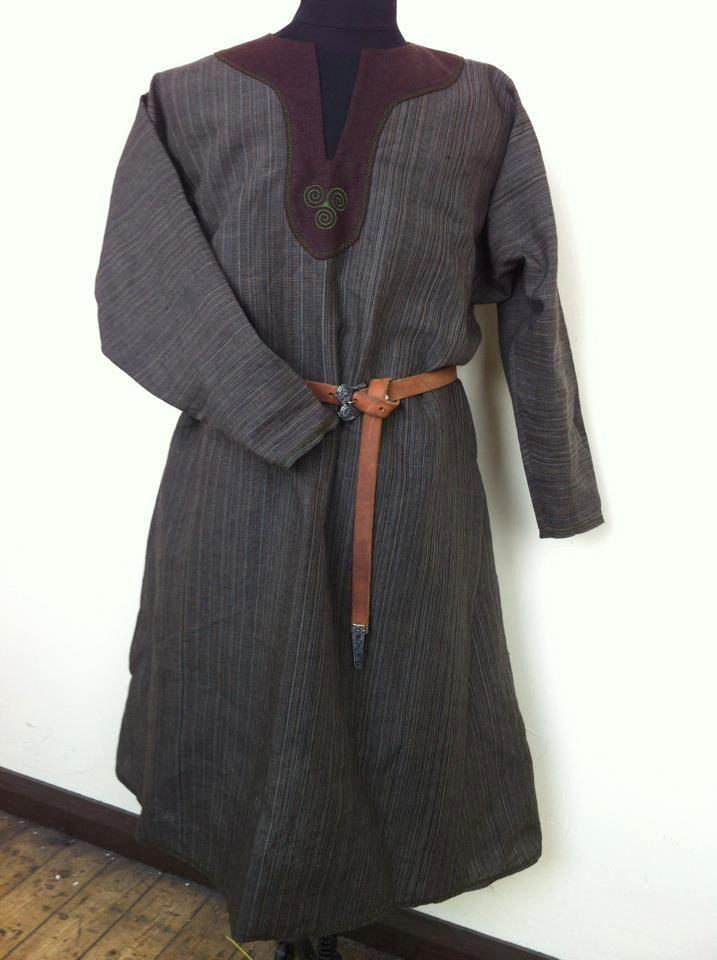 Darkage, Viking, Medieval, Renaissance, Celtic, Norse, Pagan, Embroidered, Game of thrones , linen, Tunic Costume LRP LARP SCA. $160.00, via Etsy.