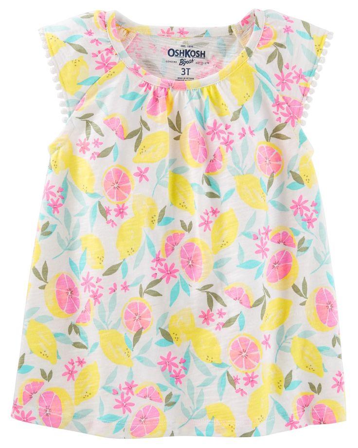 Toddler Girl Flutter Sleeve Top | OshKosh.com