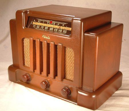 ADDISON Model 5 Art Deco Radio (1940)  This is one of the all-time classic Art Deco radios! - the Addison 5. This rare Addison, sometimes called the