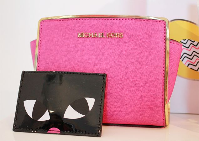 Michael Kors cat purse and neon pink bag   polkadani - reviews and rambles : Christmas @ House of Fraser: Fashion, Beauty and Gifts