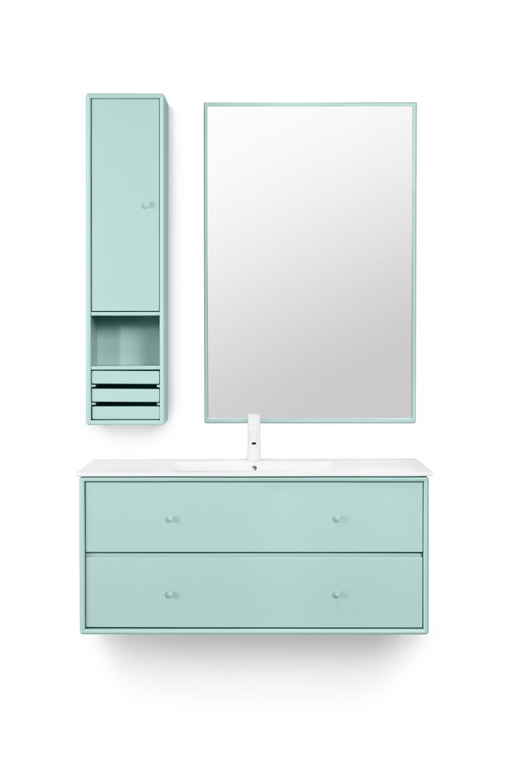 WASH 1 from Montana Collection in the colour Green Tea. #montana #furniture #danish #design #green #tea #bathroom #wetroom #mirror