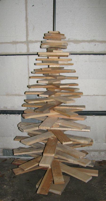 Kerstboom pallet hout