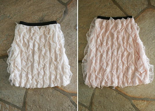 Easy peasy--buy ruffle fabric, sew up the sides, and add elastic. @Hannah Skinner