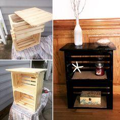 Diy crate nightstand $30!