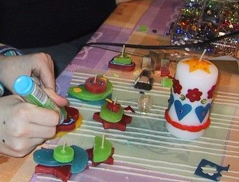 versierde kaarsen - Pesquisa Google