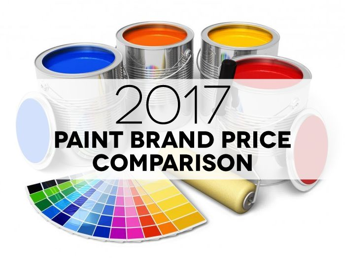 Paint Price Comparison 2017. Includes 22 major brands with details you want to know: price per gallon, price per sq. ft., coverage, spread rate, and more!