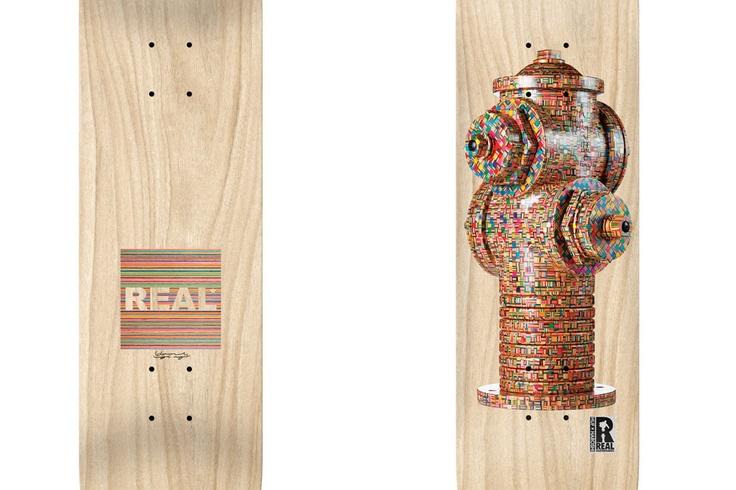 "Haroshi x HUF x Real Skateboards ""Hydrant"" Deck"