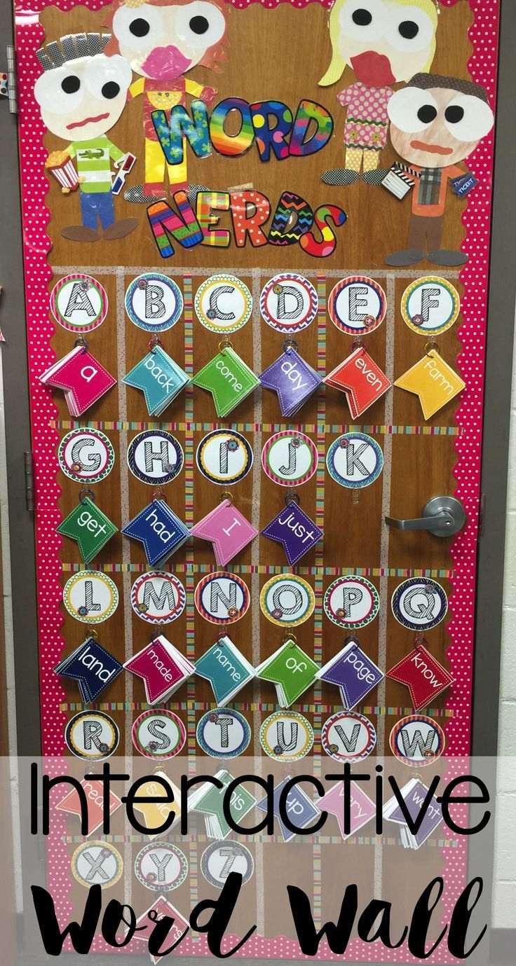 Are you looking for an Interactive Word Wall using Fry's 100 words?  Take a look at this cute door idea from a fellow friend using my product.  I love it!