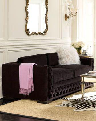 Black Tufted Sofa. LOVE