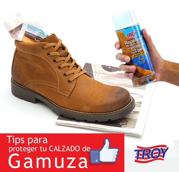 Días de lluvia?!! #Tip Rocia un poco de #Repelente de agua y polvo y protege tu calzado con TROY
