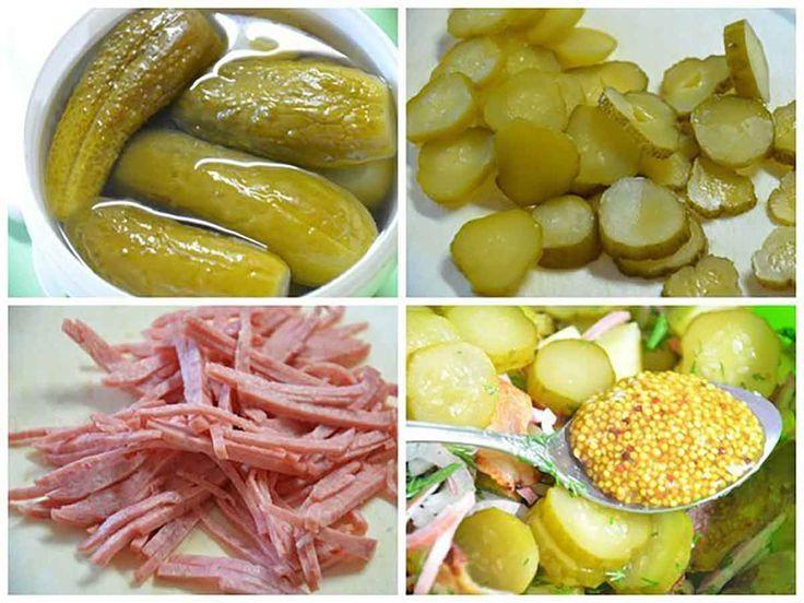 """""""Salata de cartofi"""" este o rețetă clasică a bucătăriei germane și poate fi preparată după zeci de rețete. După cum spun nemții: """"fiecare gospodină are rețeta ei de salată"""", deoarece această salată pe bază de cartofi cu ceapă, castraveți marinați, cârnați sau bacon poate fi preparată în diferite moduri. Este o salată foarte simplă, în …"""