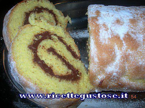 Rotolo alla nutella - http://www.ricettegustose.it/Torte_html/rotolo_alla_nutella.html