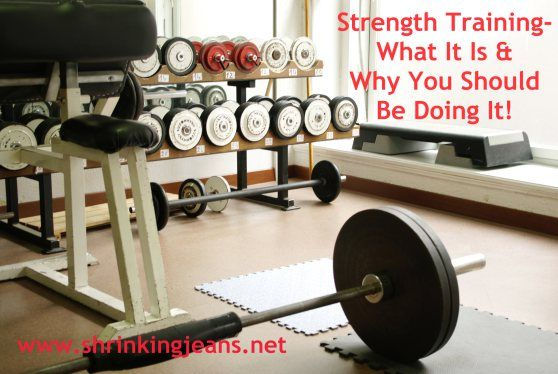 Strength Training- What It Is and Why You Should Be Doing It. A post that discusses the benefits of strength training and various types of strength training.