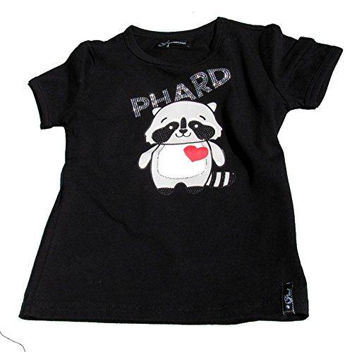 Phard T-Shirt schwarz Waschbär Strass Gr. 128