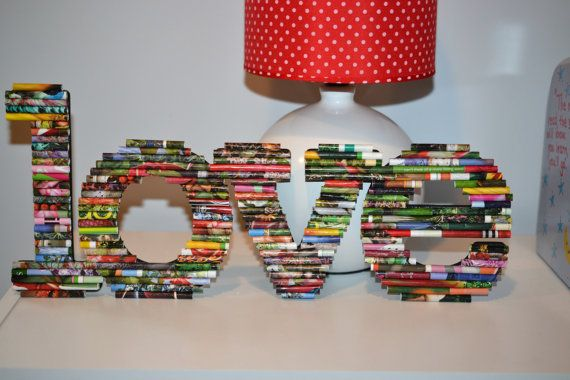 All You Need Is Love.  Fun rolled paper art by UpAgainstTheWall, $24.00