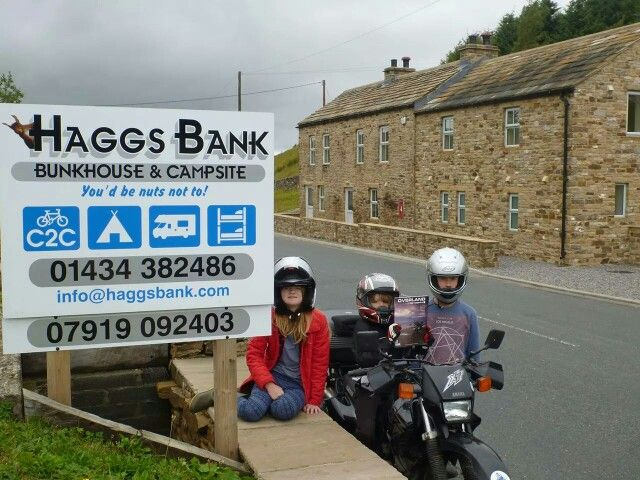 Haggs Bank motorcycles campsite