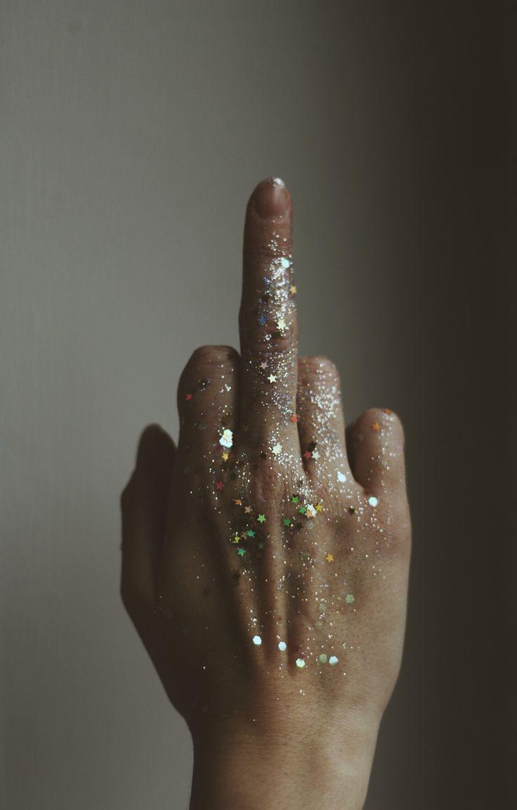 fuck u bling finger