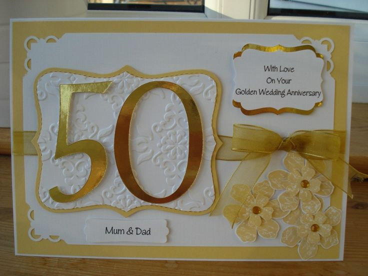 Golden Wedding Anniversary Gift Ideas For Parents : about Party Ideas50th Anniversary on Pinterest Golden anniversary ...