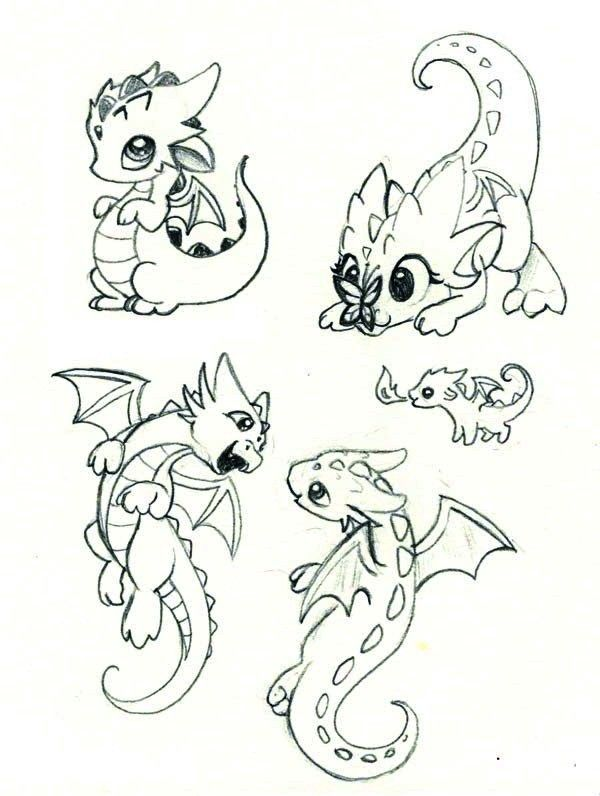 Cute Dragons Dragon Sketch Dragon Art Drawings