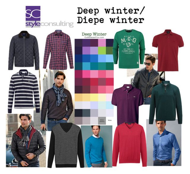 """Diepe winter man. Deep winter colors for men."" By Margriet Roorda-Faber."