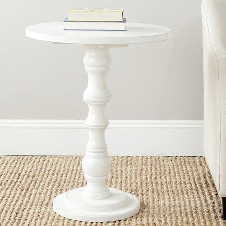 dawson wood pedestal side table ikea small tables white canada