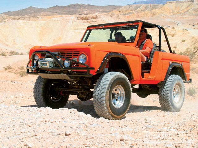 Ford Bronco and in orange even!!