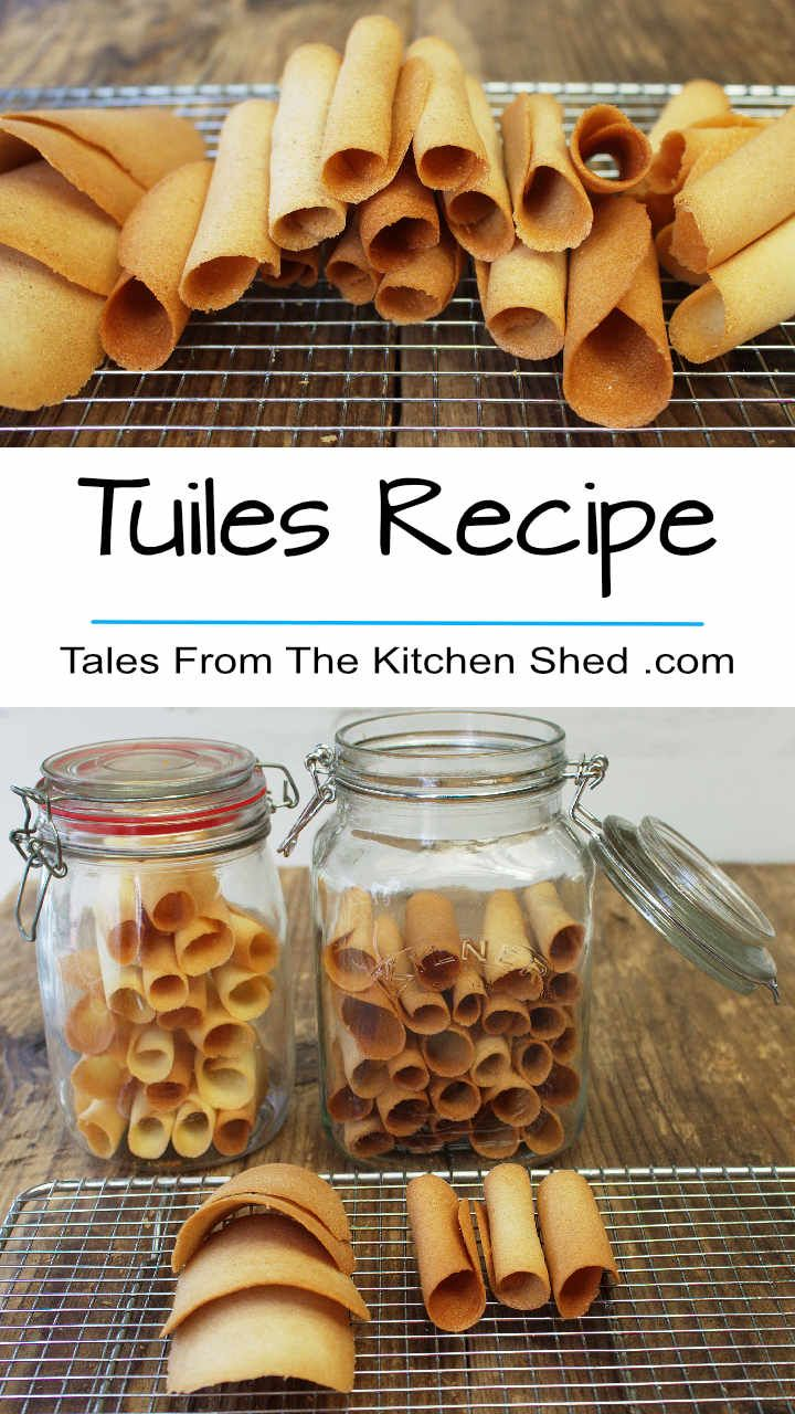You'll love my easy to follow Tuiles Recipe - wafer thin crispy perfection to top ice cream or desserts. Ideal to use up leftover egg whites!