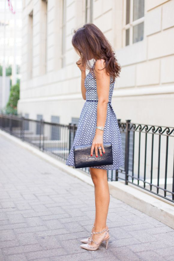 1000  ideas about Navy And White Dress on Pinterest - Pretty ...