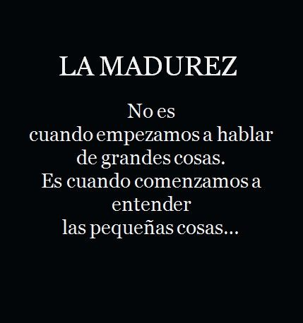 >> la madurez // words