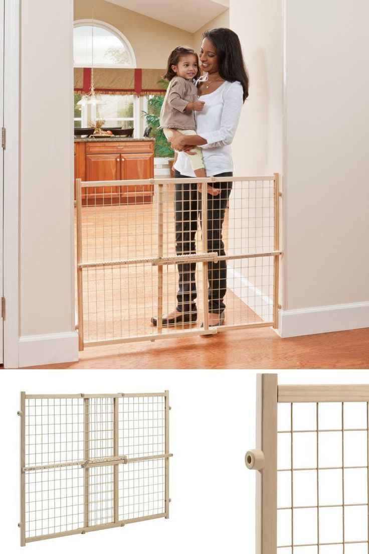 """The 32"""" tall Position & Lock gate helps parents keep their children safe from common household dangers. The gate is easy to install as there is no hardware required, it also helps prevent damage to your home due to the robust non-marring rubber bumpers.  #Baby #Safety #Gate #Door #Walk #Child #Toddler #Pet #Locking"""