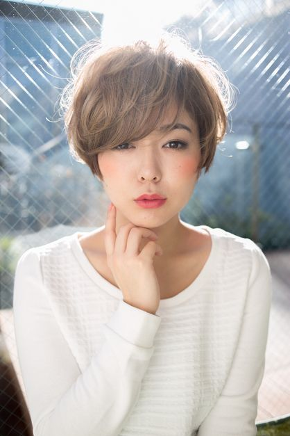 【0秒スタイリング】コケティッシュショート   青山・表参道の美容室 DIFINO のヘアスタイル   Rasysa(らしさ)