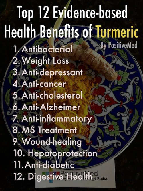 Top 12 Evidence-Based Health Benefits of TurmericPositiveMed | Stay Healthy. Live Happy