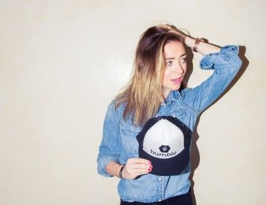 She's cupid for her day job, essentially. http://www.thecoveteur.com/whitney-wolfe-tinder-bumble/