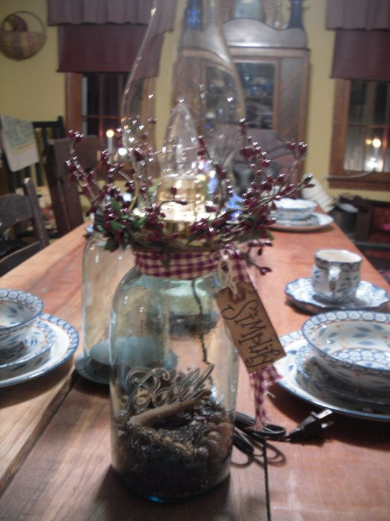 Mason Jar Lamp by everythingcountry on Etsy, $25.00